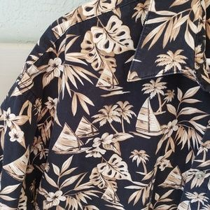 Pierre Cardin Hawaiian Aloha Casual Shirt sz XL